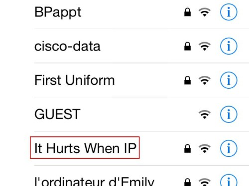 Urologist's WiFi name.