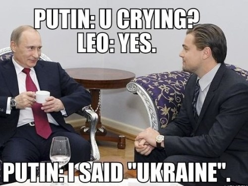 A conversation between Vladimir Putin and Leonardo Dicaprio