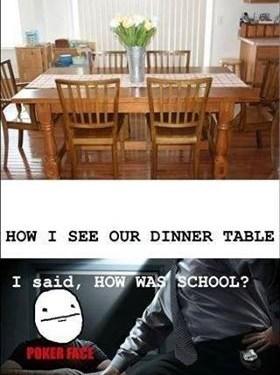 Dinner table…