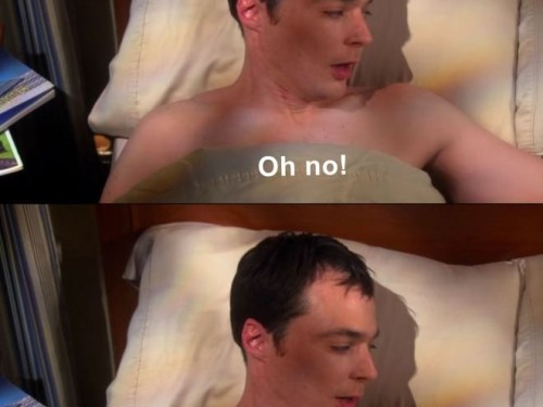 When you woke up after being drunk last night and you've done something silly. Well, Sheldon does know it now.