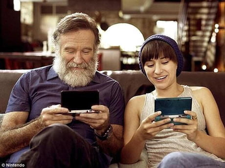 Robin Williams and his daughter Zelda.