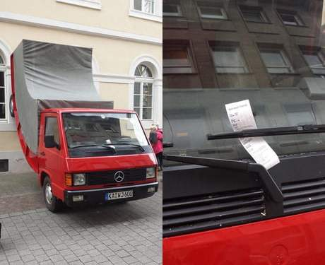Parking cop gave a ticket to an art piece because he thought it was illegally parked