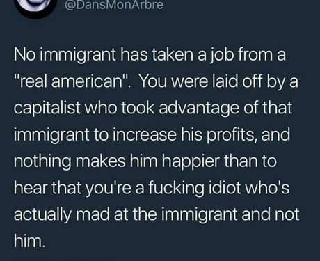 The misguided hatred towards immigrants