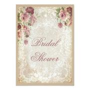 Shabby Chic Roses Pearls And Lace Bridal Shower