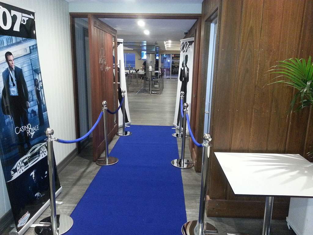 Blue Carpet Entrance