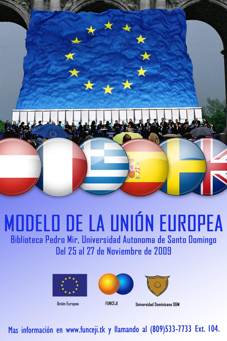 Afiche Modelo Union Europea 2009