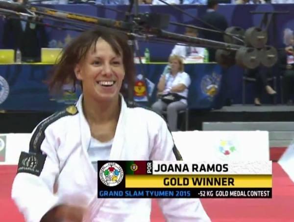 Judoca portuguesa vencedora da medalha de ouro no Grand Slam de Tyumen (Rússia)