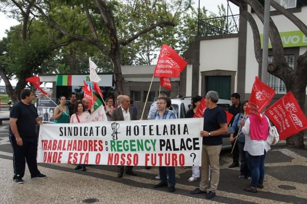 Hoje houve manifestação dos trabalhadores do Regency.
