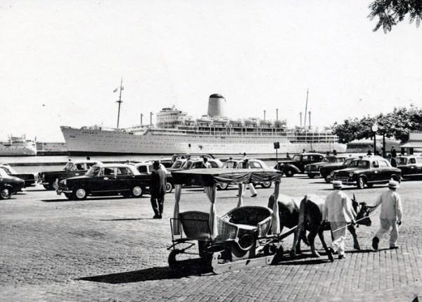Carro de de bois, Avenida do Mar 1937 Foto: http://www.freguesiadomonte.com/