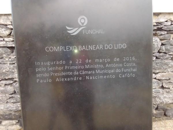 placa inauguração Lido