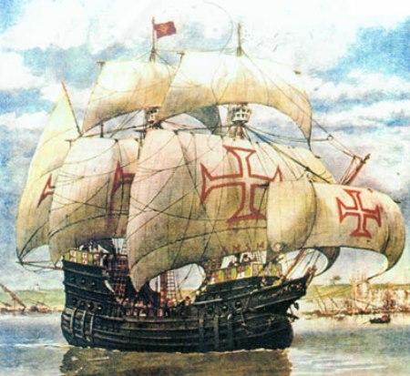 Imagem: Nau portuguesa de 1550 www.areamilitar.net