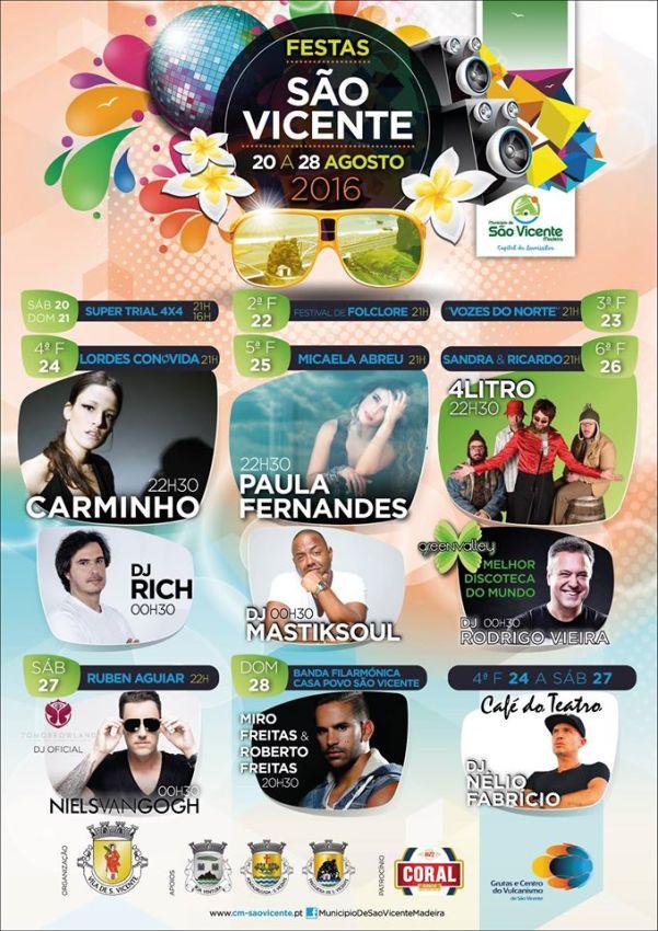 Cartaz das Festas de S. Vicente 2016