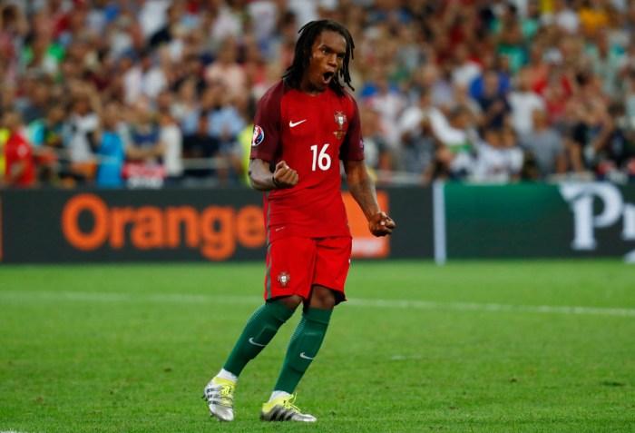 Football Soccer - Poland v Portugal - EURO 2016 - Quarter Final - Stade Velodrome, Marseille, France - 30/6/16 Portugal's Renato Sanches celebrates scoring during the penalty shootout REUTERS/Kai Pfaffenbach Livepic