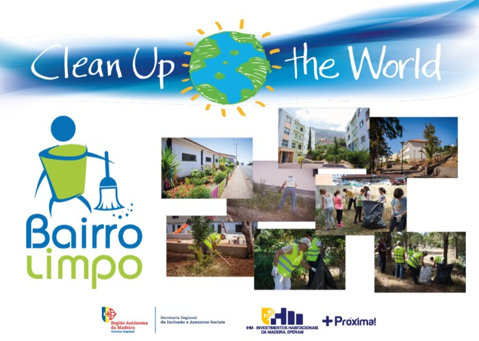 clean up the world limpeza ambiente bairro