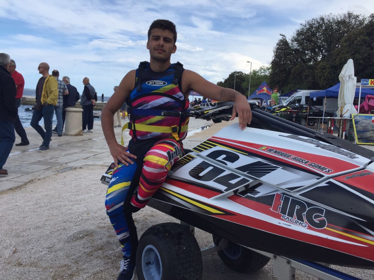 Madeirense Henrique Rosa Gomes campeão ibérico de jetsky