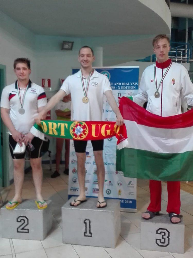 André Jorge é campeão em Itália na natação adaptada