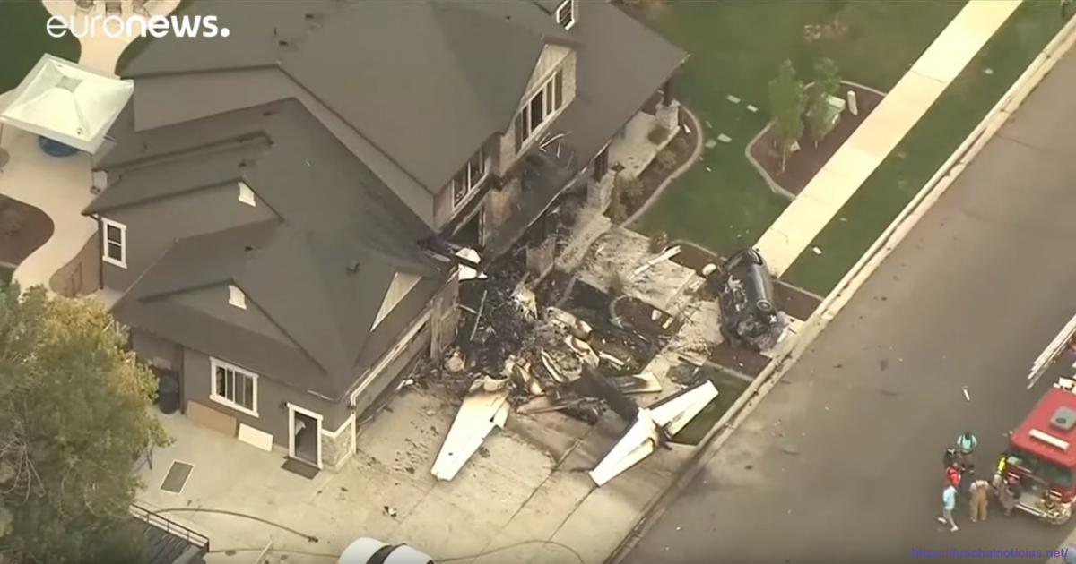 Homem despenha avião contra a própria casa [vídeo]