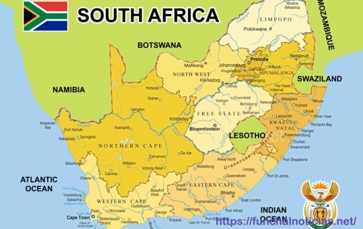 mapa africa do sul