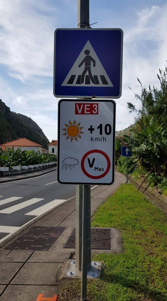 Novos sinais de trânsito já colocados na Via Expresso