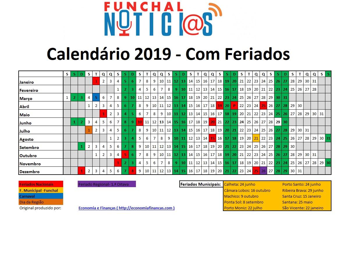 Calendario 2020 Portugal Com Feriados.Confira Aqui Todos Os Feriados Na Madeira Em 2019 E Em Quais