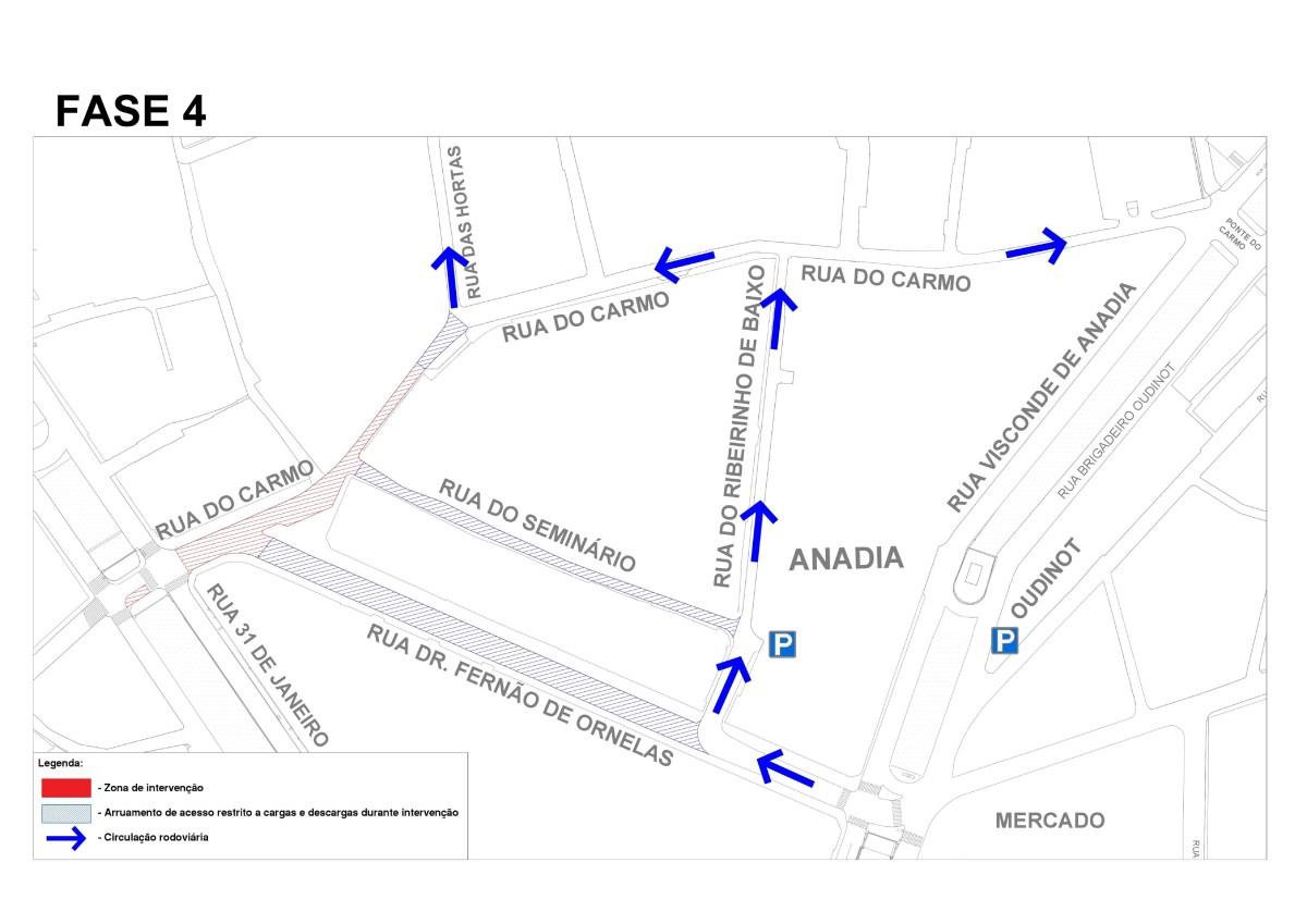 Circulação na Rua Dr. Fernão de Ornelas em sentido contrário a partir de 25 de março, começa a última fase da obra