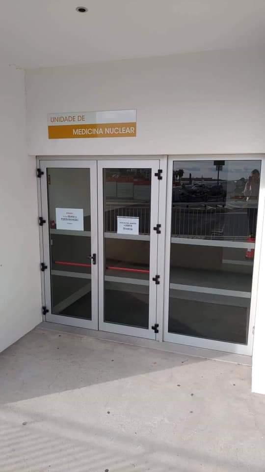 Medicina Nuclear porta fechada 25 de março de 2019