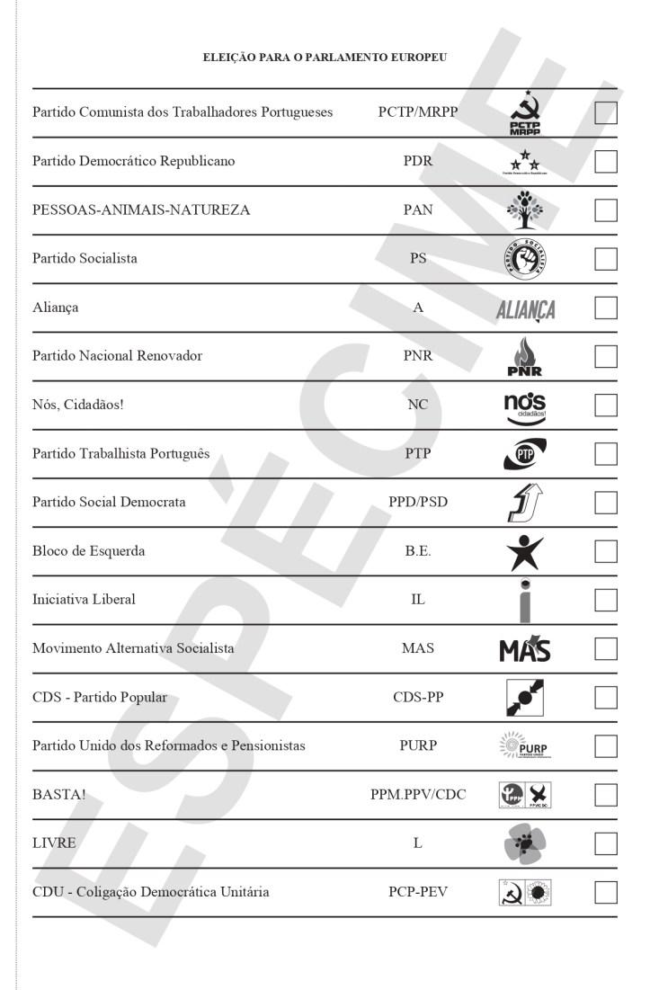 Boletim de Voto certo
