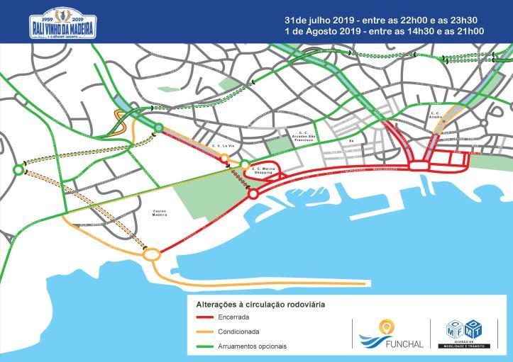 Rali mapa de fecho de estradas 31 e 1 de agosto