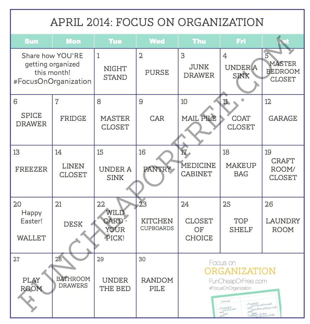 Month Long Organization Challenge