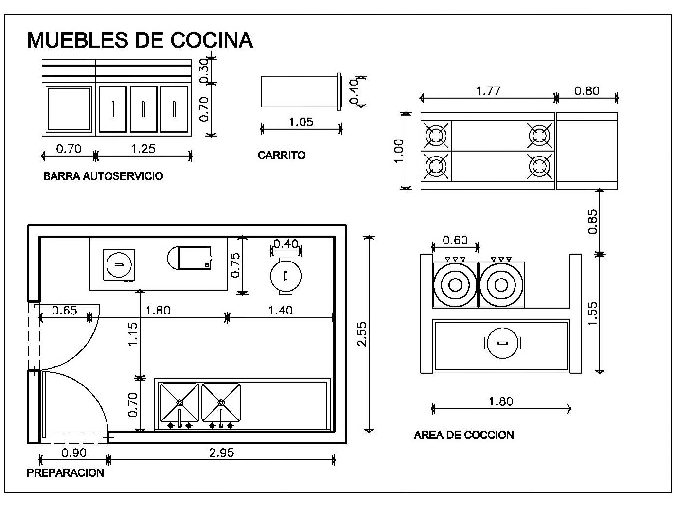 Cocina Restaurante Bloque Autocad