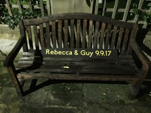 Love Seat Bench Wedding Date Bride Groom