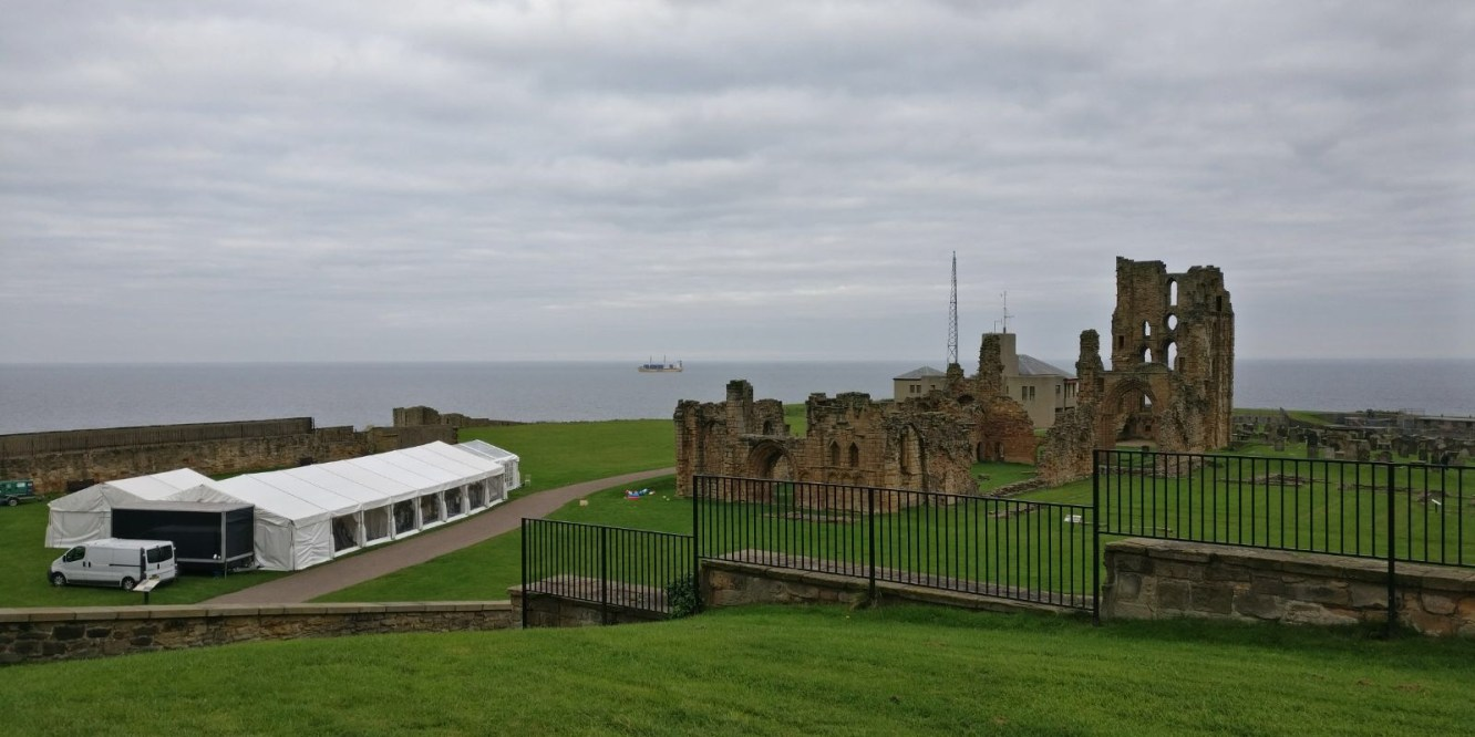 Tynemouth Priory Castle Wedding Marquee Live Music Party Coast