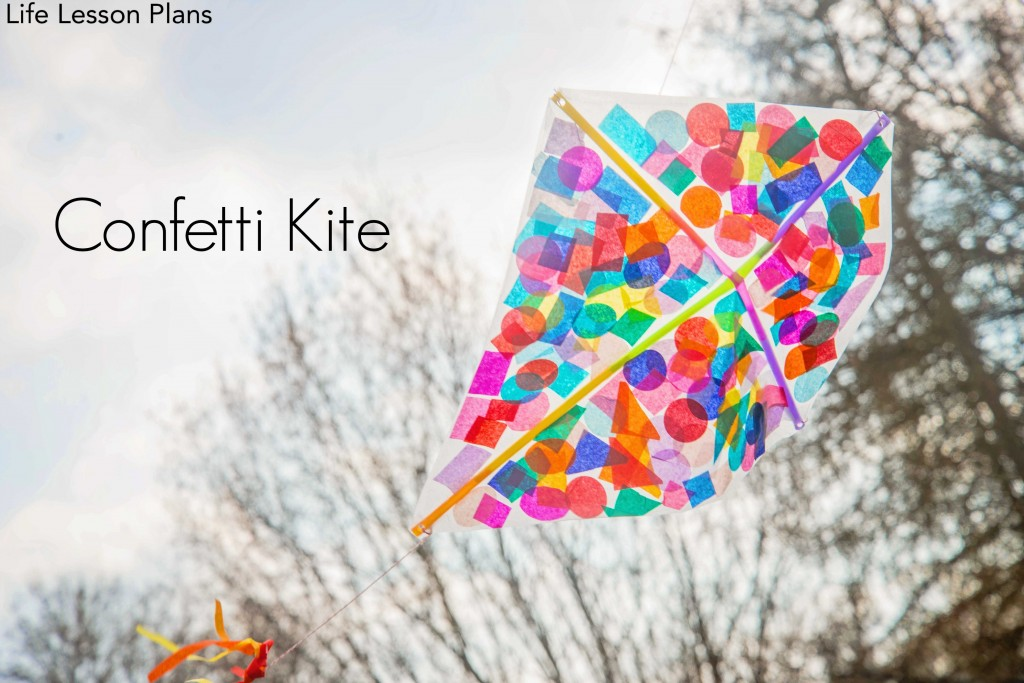 How To Make A Kite Confetti Kite Fun Crafts Kids