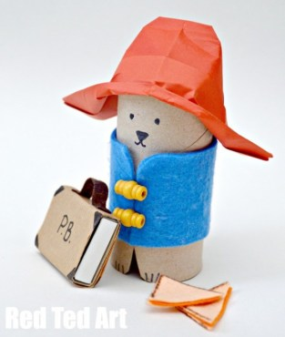 Paddington-Bear-Artigianato-TP-Roll-Bear-Matchbox
