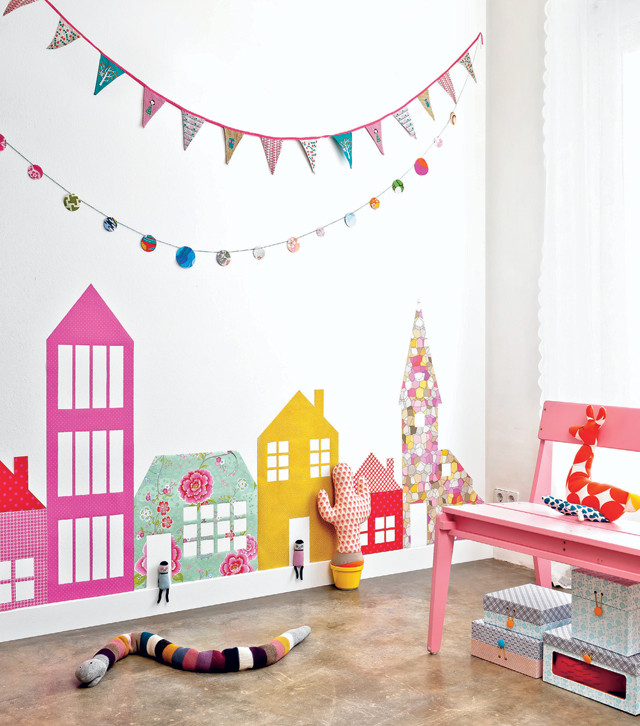 House Themed Wall Art For Kids Rooms Fun Crafts Kids