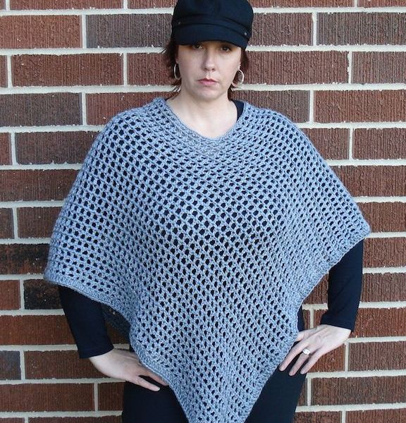 Chic Lattice Poncho