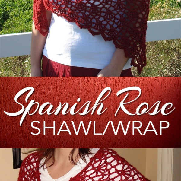 Spanish Rose Shawl / Wrap at Fun Crochet Designs