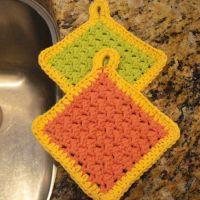 Moss Stitch Scrubbies