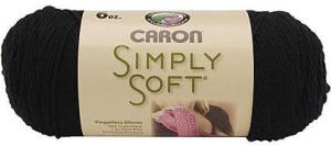 Caron Simply Soft Black Yarn