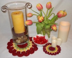 Tulips Doily Pattern - crochet
