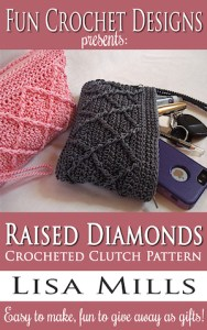The Raised Diamonds Crocheted Clutch Pattern on Amazon