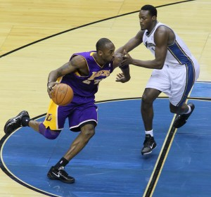 Kobe Bryant a future Hall of Fame Shooting Guard showcasing his deadly offensive abilities (Photo Source: Keith Allison)