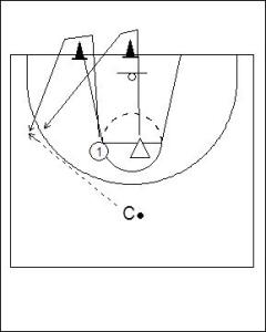 1 on 1 Wing Chaser Drill Diagram 1