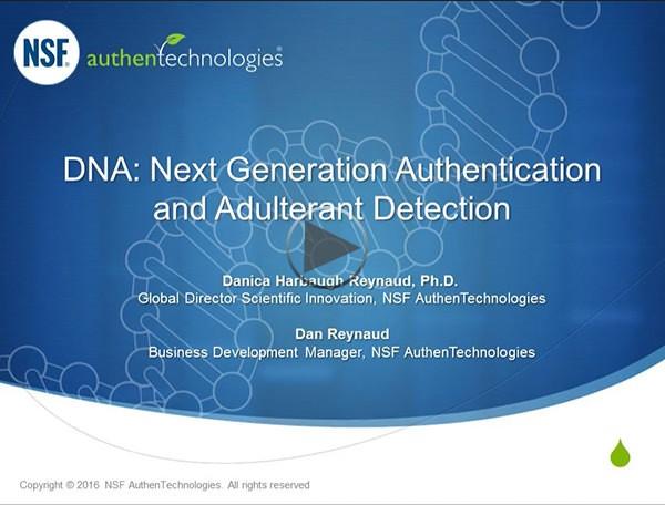 NSF DNA Webinar