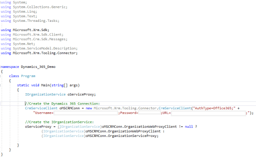 Step by Step: Connecting to Dynamics 365 using a C# Console App