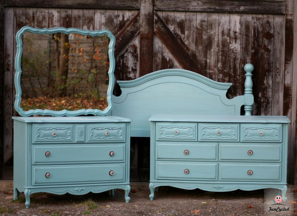 Country Teal French Provincial Bedroom Set  Tuesdays