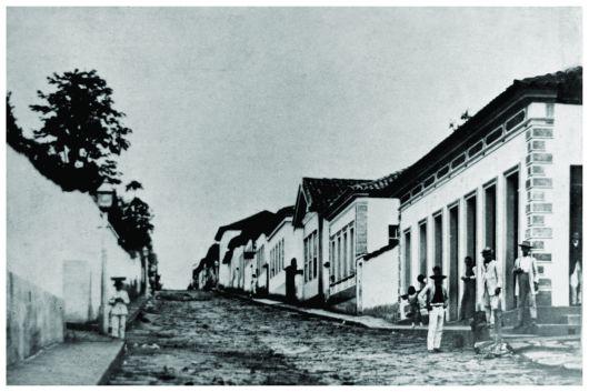 Antiga Rua Direita – atual Rua Presidente Antônio Carlos. Início do séc. XX.