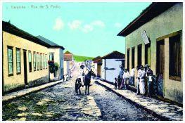 Antiga Rua São Pedro – atual Rua Doutor Wenceslau Braz. Início do séc. XX.