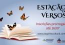 Inscrição para antologia Estação dos Versos termina nesta terça-feira