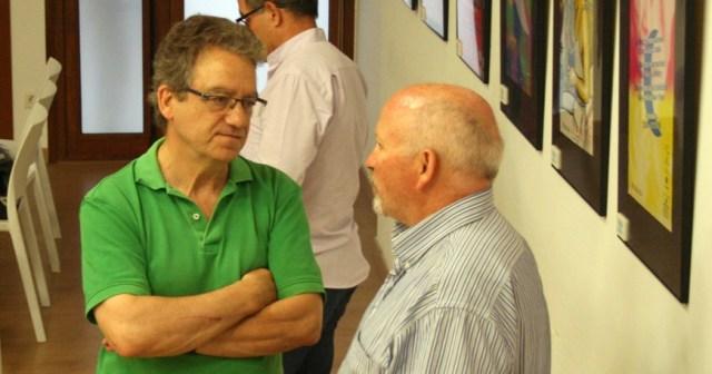 El nuevo presidente de la Fundació Joan-Andreu Bajet (izquierda) conversa conel patrón Joan Melús.